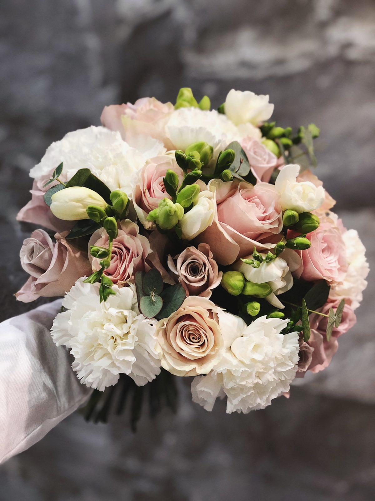 Свадебный букет заказ петербург, заказ 1500 рублей