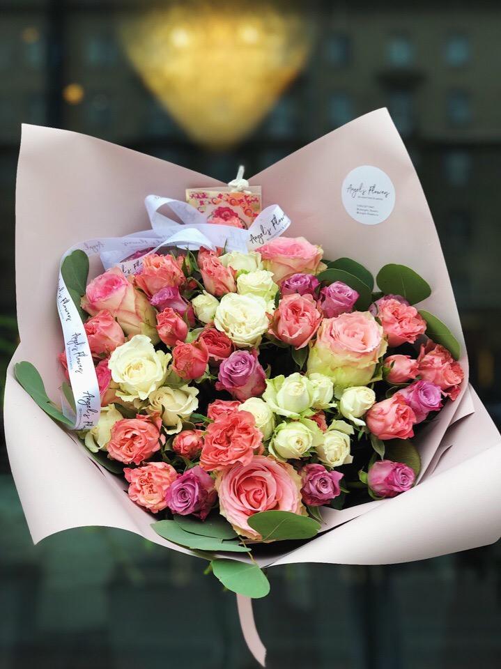 Букет цветов доставка на дом спб